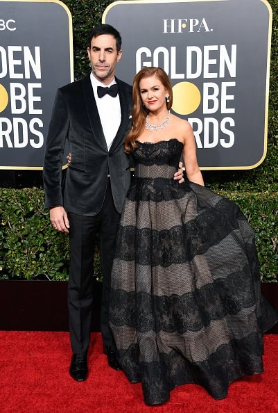 BEVERLY HILLS, CA - JANUARY 06:  Sacha Baron Cohen (L) and Isla Fisher attend the 76th Annual Golden Globe Awards at The Beverly Hilton Hotel on January 6, 2019 in Beverly Hills, California.  (Photo by Frazer Harrison/Getty Images)