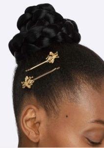gold bee bobby pins