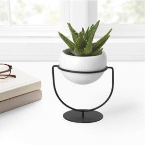 nesta speckled planter for plant