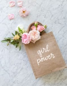 girl power tote bag from the little market